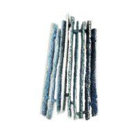 colgante en plata y pigmentos en tonos azules