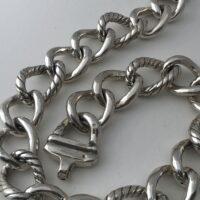 cadena eslabones electroforming de plata