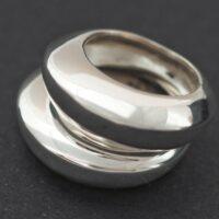 anillo plata lisa y brillo