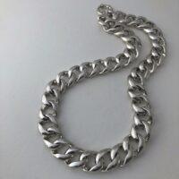 cadena barbada de plata electroforming
